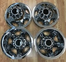 "2008-2010 Silverado 3500 1-ton Dually 17"" Wheel Simulators Liners Center Cap SET"
