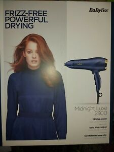 BaByliss 5781U Midnight Luxe 2300W Hair Dryer BNIB!