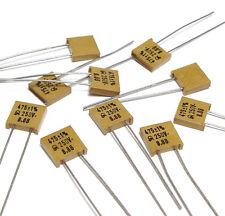 10x Jahre Glimmer-Kondensator 475 pF / 1 % / 250 Volt, High-End Mica Capacitor