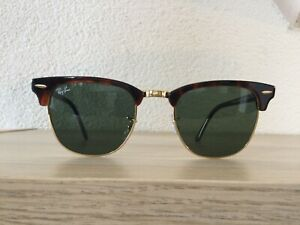 Ray Ban Sonnenbrille Clubmaster Kultbrille RB3016 W0366 Braun Gold 51-21 NEU!!