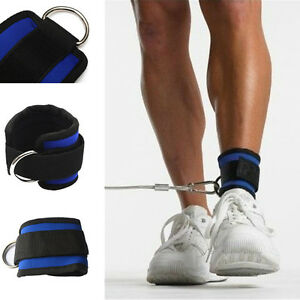 Gym Exercise Fitness Ankle Strap Belt Strength Muscle Training Pull Leg Band US