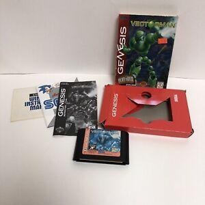 Vectorman Sega Genesis Complete Cardboard Box Tested