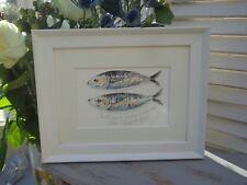 """""""MACKEREL"""" FISH Framed Watercolour Painting by Sandra Mason"""