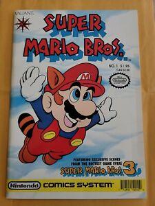 Super Mario Bros. #1  (Valiant Comics 1990) Nintendo Barcode on Right