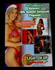 dc484bd72087b Vtg Sexy Hooters Girl Bikini Swimsuit Pageant 8th Anniversary Promo Mini  Poster