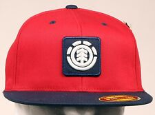 ELEMENT FENWICK RED MENS SKATEBOARD NEW FITTED HAT CAP SIZE S/MD