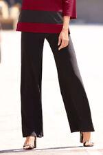 NEW 6 Boston Proper Little Black Belted Trouser Pant Flare Leg Dress Pants $89