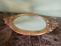 "Beautiful Vintage Gold Framed 11"" x 9"" Mirror Art Deco"