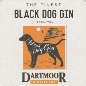 BEER MAT - TEIGNWORTHY BREWERY - BLACK DOG GIN - (Cat No 004) - (2021)