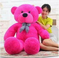 "63"" Giant Big Teddy Bear Plush Soft Toys Doll Gift Stuffed Animals Rose Pillow"