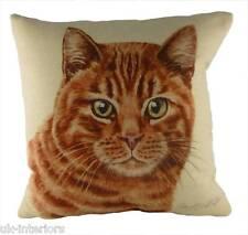 """17"""" Ginger Cat Cushion Evans Lichfield DP935 43cm Waggydogz kitten"""