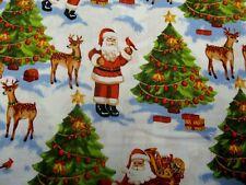 Fat Quarter Nostalgic Santa Father Christmas Cotton Quilting Fabric