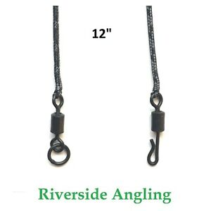 """PVA Bag Leadcore Leaders ( 12"""" Aprox ) Solid Bags Ring Swivel Or Quick Change"""