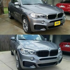 For 2014-2018 BMW F15 X5 Piano Black Front Hood Bumper Kidney Grille Grill