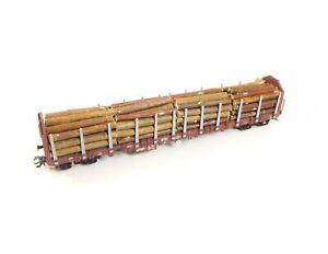 Holzstämme 3, 4-teilig für langen Märklin Rungenwagen 47004, 47008, 47026, 47047