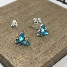 Butterfly Crystal Titanium Post Stud Earrings US Seller Made in Korea