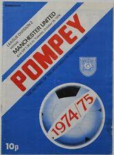 More details for *rare* portsmouth v manchester united division 2 1974/75 15/10/1974 (ref 1134)