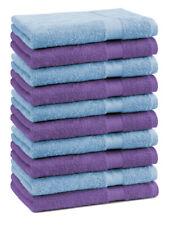 Betz 10 Toallas de cara 30x30cm PREMIUM 100% algodón colores morado y azul claro
