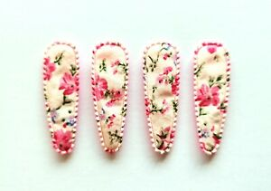 36 pcs Mix Colors Flower Blossom Printed Hair Clip COVERS Size 55 mm