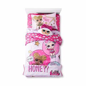 KIDS GIRLS LOL SURPRISE DOLLS BED IN A BAG / COMFORTER SET - 2 PRINTS