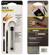 Nite Ize Inka Silver Key Chain Pen Watertight Aluminum Body IP2-11-R7 ***NEW***