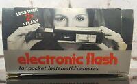 ITT MagicFlash Electronic Flash EF 202 Kodak 20, 30, 40, 50, 60 Pocket Cameras