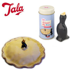 Ceramic Pie Bird in TIN BOX Traditional TALA Baking Pressure Release Funnel Bake