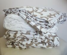 Northern Nights Pretty Scroll Print Brushed Cotton 4 Piece Duvet Set, Single NEW