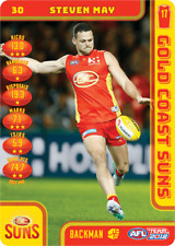 2018 TEAMCOACH GOLD COAST SUNS STEVEN MAY # 30 COMMON CARD AFL free post