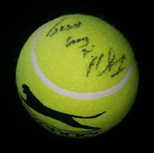 MICHAEL CHANG AUTOGRAPH AMERICAN TENNIS PLAYER HAND SIGNED HUGE BALL