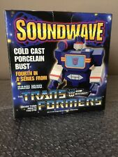 "2002 ""HARD HERO"" TRANSFORMERS SOUNDWAVE  DECEPTICON BUST STATUE"