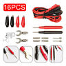16PCS Digital Multimeter Test Leads Probes Volt Meter Cable Clip SET Kit