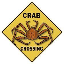 Crab Crossing Sign NEW 12X12 Metal