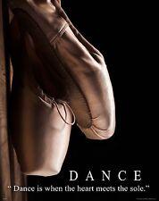 Ballet Dance Motivational Poster Art Print Shoes Flats Tutu Leotard Skirt MVP370