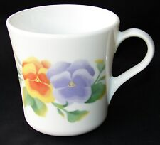 3 CORELLE SUMMER BLUSH MUGS CUPS ONLY PANSIES