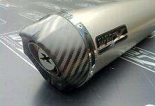Honda CBR 400 NC 23 Tri-arm Titanium Round, Carbon Outlet, Exhaust Can Silencer