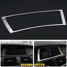 Fit For BMW X5 E70 2009-2013 Steel Inner Dashboard Navigation Frame Cover Trim