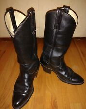 Frye Men's size 9.5 D Black Leather Country Western Cowboy Boots Euro size 40