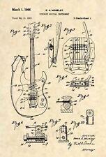Official Mosrite Mark 1 Guitar Patent Art Print- Vintage Semie Moseley Bass -465