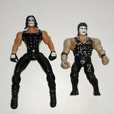 Wrestling Actionfiguren Sting Black White Crow - Toy Biz 1999 WCW & Bootleg KO