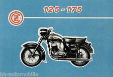 Prospekt CZ ČZ 125 175 1962 Motorradprospekt Motorrad brochure brosjyre moto