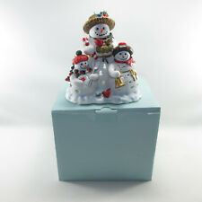 Partylite Snowbell Snowman Snowmen Tealight Candle Holder New In Box