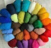 FILZWOLLE im Vlies Merinowolle Märchenwolle 35 Farben zur Auswahl Filzen