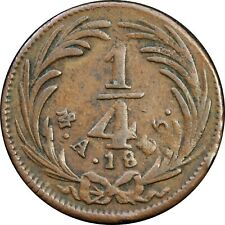 Mexico 1/4 Real Mo 1835. State Coppers. KM# 358