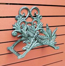 Hose Holder Cast Iron Dragonfly Mr Gecko Decorative Hose Reel Verdigris