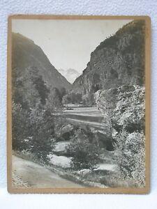 Ancienne et grande photo d'Art signée Vue de Montagne VALLON OISANS ALPES