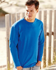 Fruit of the Loom Men's Crew Neck Long Sleeve Regular Casual Shirts & Tops
