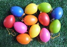 12 Ostereier schleife Kunststoffeier 6 Cm Osterstrauss Osterdeko Eier Ostern B