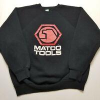 Vtg Matco Tools Sweatshirt Mens XL Black Discus Athletic Crewneck USA 90s J85