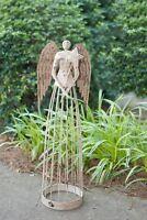 "Attraction Design Antiqued Metal Garden Angel, 25.5"" Height"